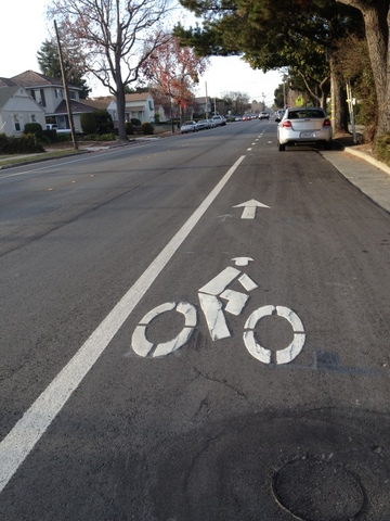 San Mateo bike lane