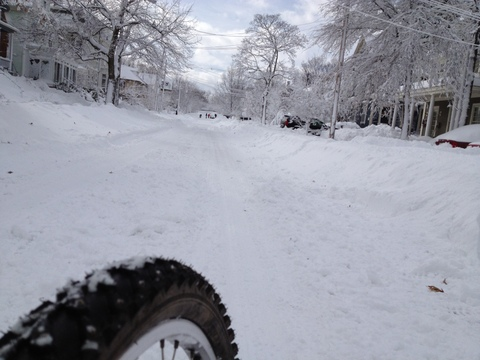 blizzard bike in action