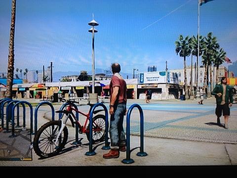 GTA V bike parking