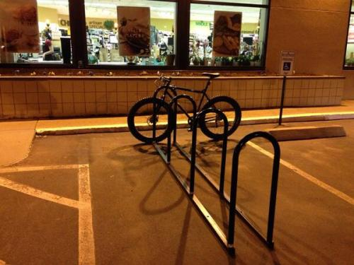 Bike parking at Whole Foods Waterman