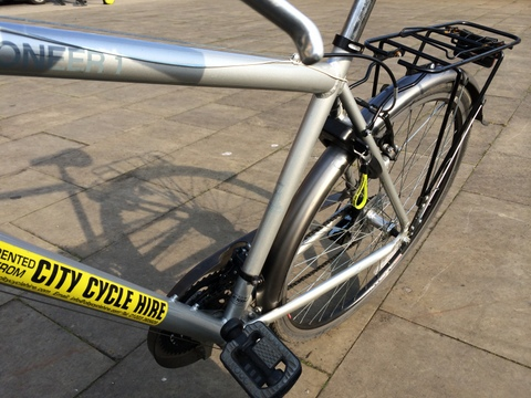 Part of my bike from City Cycle Hire