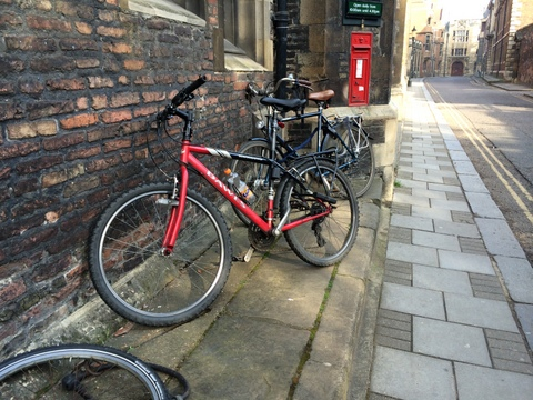 bike locked in Cambridge