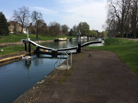 canal lock on River Cam